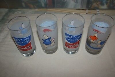 Coca Cola 2004 Athens Olympics Glass set of 4