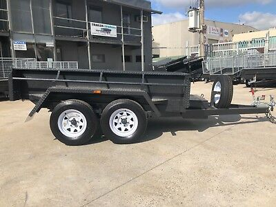 "8x5 TANDEM AXLE HYDRAULIC TIPPER BOX TRAILER - 15""(380mm) HIGH SIDES -NEW WHEELS"