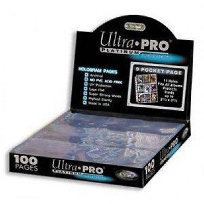 100 ULTRA PRO PLATINUM 9-POCKET Pages Sheets highest Quality Brand New in Box