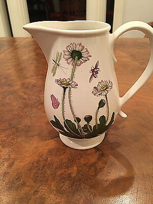 "Portmeirion Botanic Garden- Daisy 14 Oz 5 1/2"" Romantic Pitcher"