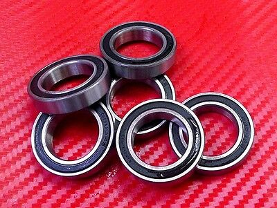 5pcs 6901-2RS (12x24x6 mm) Black Rubber Sealed Ball Bearing Bearings 6901RS