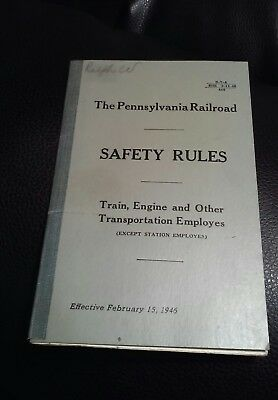 Railroad Rule Book Pennsylvania Rr Safety Rules 1946