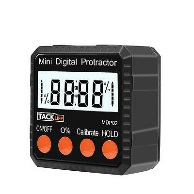 Tacklife MDP02 Digital Angle Gauge Level / Protractor Inclinometer/Stainless LCD