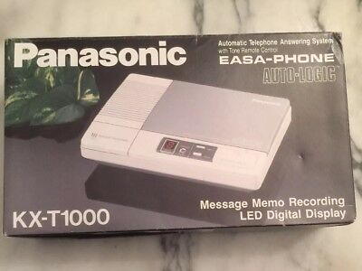 Panasonic Easa-phone KX-T1000 Automatic Telephone Answering System With Box