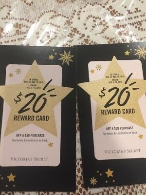 Victoria Secret $20 off $50 Holiday Reward Card Online & In store gift Christmas
