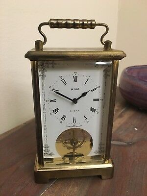 Vintage Bulova 8 Day Clock - Made in West Germany - Working