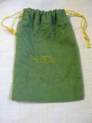"Green Felt Stow & Show Bag 7.5"" x 5"" SHREVE CRUMP & LOW Co, Boston Chestnut Hill"