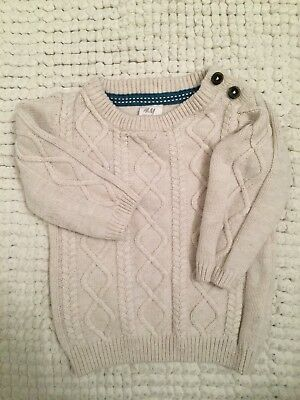 1bd28877fc13f H&M Baby Boys Girls Sweater Size 4/6 Months Knit Pull Over Shoulder Button