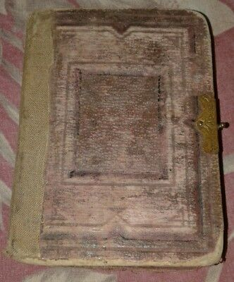 Antique Vintage Victorian Photo Album Leather Family Photos Over 20 TINTYPES