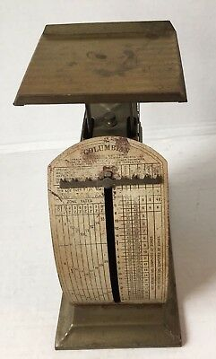 Antique Pelouze MFG. Co. 1908 Patent Pending Columbian Postal Scales Chicago