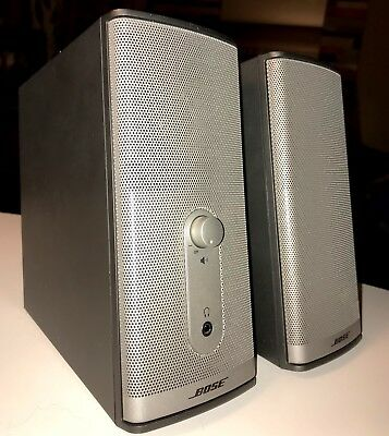 BOSE Multimedia COMPANION 2 Series II Speakers LAPTOP Computer COMPLETE w Cables