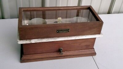 Henry Troemner Wood, Glass, and  Marble Pharmaceutical Apothecary Balance Scale