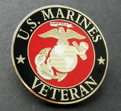 Us Marine Corps Veteran Usmc Marines Lapel Pin Badge 1.5 Inches