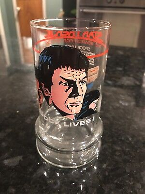 Star Trek III Spock Lives Glass 1984 Taco Bell The Search for Spock