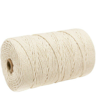3mm x 200m Macrame Cotton Cord for Wall Hanging Dream Catcher Cotton Rope