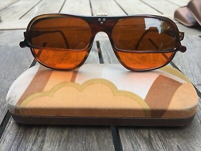 Cutler and Gross Vintage Half Flip Up Sunglasses, Made in EU