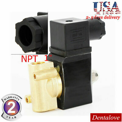 """12V Electric Solenoid Valve Switch Water Air 1/2"""" Brass Normally Closed N/C NPT"""