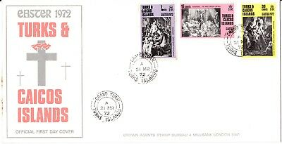Turks & Caicos Islands -  1972 - Easter -  FDC