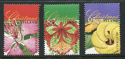 1998 Christmas Island.  Christmas.  Flowering Trees.  Full set of 3 USED.