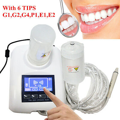 UK Portable Dental Ultrasonic Piezo Scaler Scaling Handpiece 2 Bottle Fit EMS