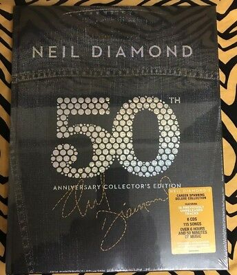 Neil Diamond 50th Anniversary Collector's Edition 6 CD Box Set - IMPORT - Sealed