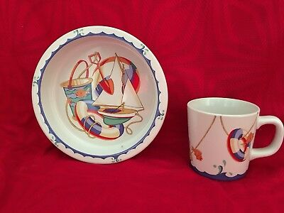 Tiffany & Co Seaside 2 Piece Childs Set  Cup & Bowl