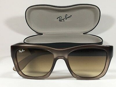 Ray-Ban Men's HighStreet Wayfarer Sunglasses New Real RB4194 Square Brown Clear