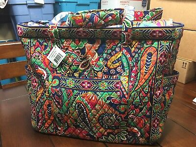 NWT Vera Bradley  Get Carried Away Tote Bag Diaper Bag In Venetian Paisley Print