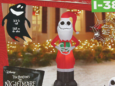 NEW JACK SKELLINGTON Nightmare Before Christmas LED Airblown Inflatable Yard