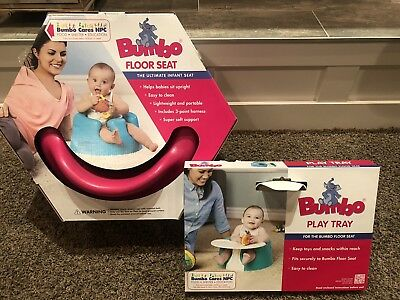 BUMBO ~ Baby Seat Hot Pink Safety Repair Belt Straps Booster w/ Play Tray Snack
