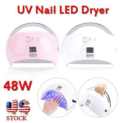 Professional 48W LED UV Nail Dryer Gel Polish Lamp Salon Curing Manicure Machine