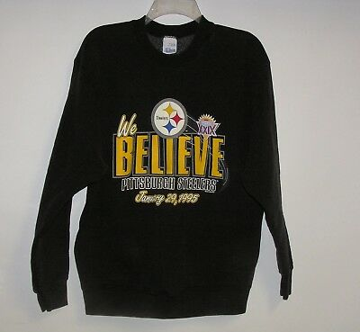 Vintage 1995 Super Bowl XXIX --  STEELERS -- Sweat Shirt  Sz Lg