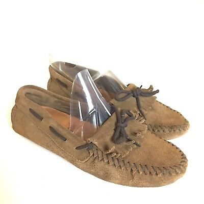 MinneTonka Moccasin 8 Shoes Brown Driving Flats Suede Womens Leather