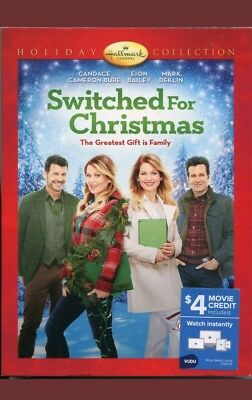 SWITCHED FOR CHRISTMAS HALLMARK DVD Candace Cameron $4 VUDU cr NEW FREE ship