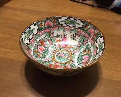 Vintage Japanese Porcelain 6 Inch Bowl. A.C.F. Hong Kong /Hand Painted