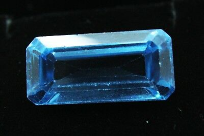 11.40 Ct Natural Emerald Cut Transparent Ocean Blue Aquamarine Gem GGL certified