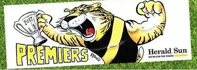 Afl Richmond Tigers 2017 Premiers Bumper Sticker. Herald Sun Premiership