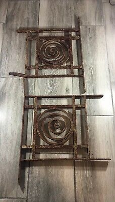 Antique Cast Iron Metal Fence Swirl Section Architectural Salvage Repurpose Top