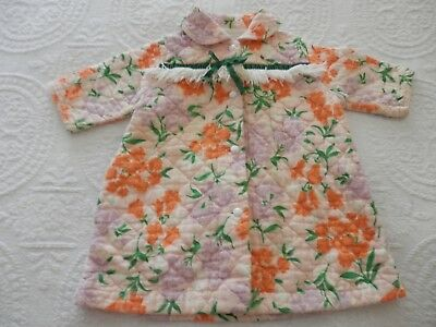 Vintage 50's or 60's Baby Girls Quilted Pajamas / Bath Robe