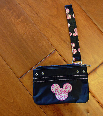 Disney Mickey Mouse Pink Leopard Print Coin Purse