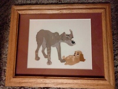 Walt disney original lady & the Tramp Art production Cel Set Tramp & Puppy 1955