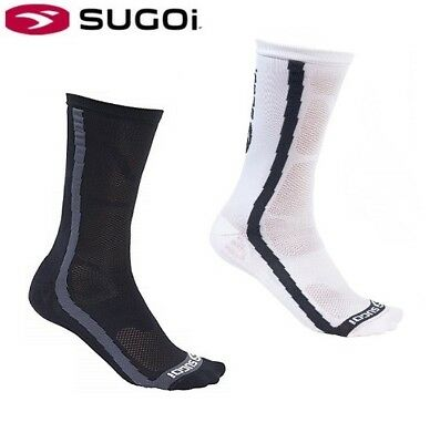 New Sugoi RS Crew Socks Cycling Sports Running Select Red White Blue Med Larg