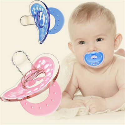 Cute Baby Newborn Pacifier Soother Silicone Dummy Biter Teether Soother Nipple .