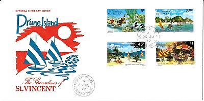 The Grenadines of St. Vincent - 1977 - Prune Island - First day cover