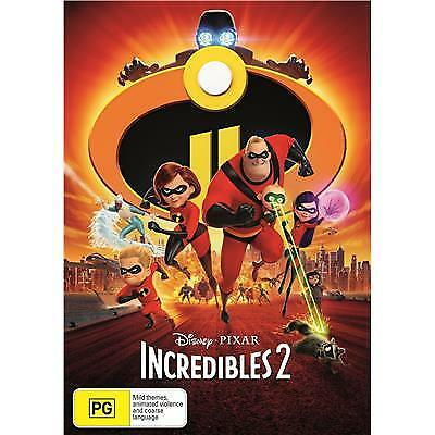The Incredibles 2 (DVD, 2018) Australian Stock