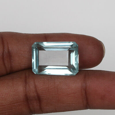 18.95 Ct Natural Aquamarine Greenish Blue Color Octagon Cut Loose Certified Gem