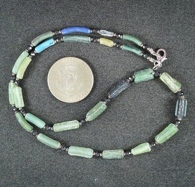 Ancient Roman Glass Beads 1 Medium Strand 100 -200 Bc 0982
