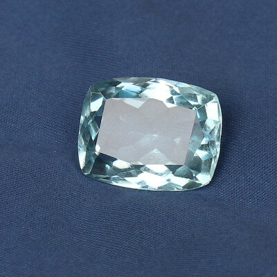 23.95 Ct Natural Aquamarine Greenish Blue Color Cushion Cut Loose Certified Gem