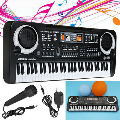 61 Key Music Electronic Keyboard Digital Piano Organ with Microphone Kids Toys