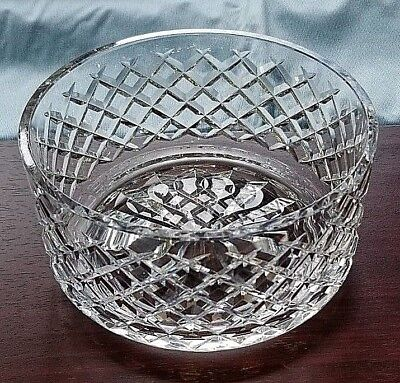 """Waterford Crystal 7"""" Round Bowl!  Alana Pattern"""